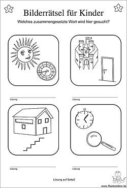 bilderr tsel f r kinder zum ausdrucken. Black Bedroom Furniture Sets. Home Design Ideas