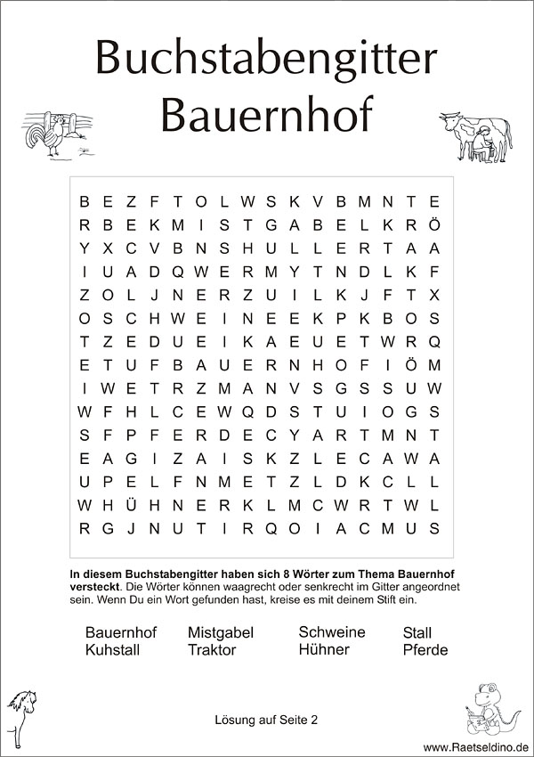 buchstabengitter f r kinder thema bauernhof. Black Bedroom Furniture Sets. Home Design Ideas