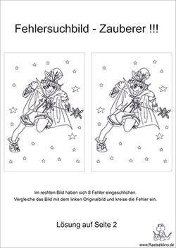 Fehlersuchbilder kostenlos ausdrucken | Raetseldino.de