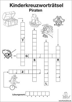 Kinderkreuzworträtsel mit Lösung zum Ausdrucken