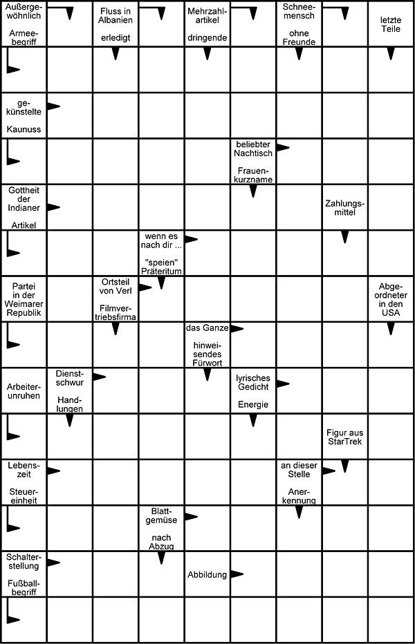 Schweden Kreuzworträtsel