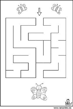 Labyrinth Rätsel und Irrgarten Bilder | Raetseldino.de