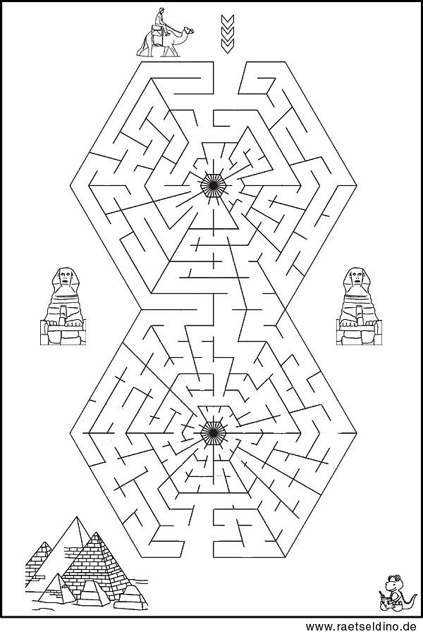 Labyrinth Rätsel für Erwachsene und Kinder
