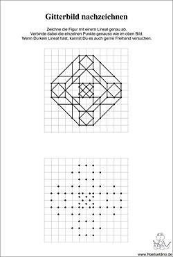 figuren und formen nachzeichnen gitterbilder f r kinder. Black Bedroom Furniture Sets. Home Design Ideas