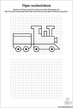 Figuren Und Formen Nachzeichnen Gitterbilder Für Kinder