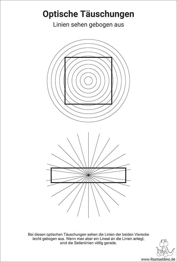 gebogene linien optische t228uschung f252r kinder und erwachsene