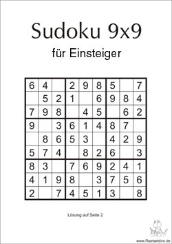 Einfache Sudoku Vorlagen Und Sudoku Regeln Raetseldino De