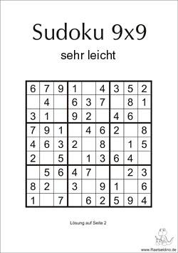 Sudoku Lösungsmöglichkeiten
