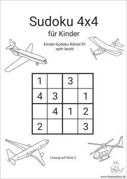 Kinder Sudokus zum Ausdrucken | Raetseldino.de