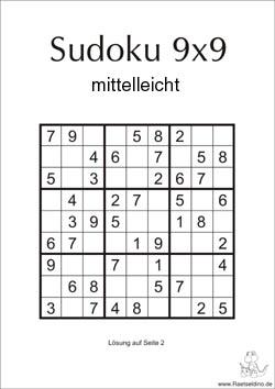 Sudoku Vorlagen Mittel Zum Ausdrucken Raetseldino