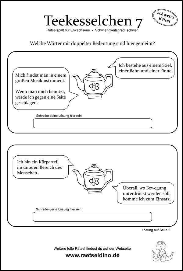Teekesselchen für Erwachsene
