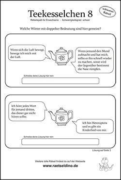 Teekesselchen Beispiele