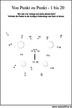 Kinder-Rätsel Punkte verbinden - Von Punkt zu Punkt